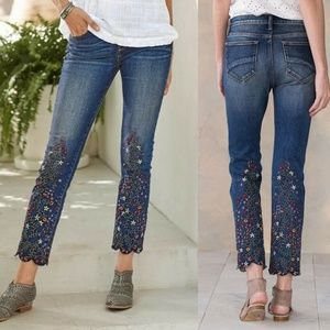 Colette Fern & Flora  Embroidered Jeans HW7077